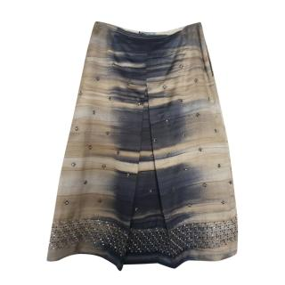 Prada Embellished A-Line Midi Skirt