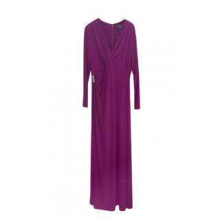 Lauren Ralph Lauren Violet Crystal Trim Gown