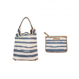 Burberry Vintage Striped Ashby Tote & Pouch