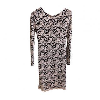 Alice + Olivia Lace Open Back Mini Dress