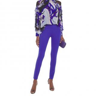 Emilio Pucci Purple Stretch High Waist Leggings