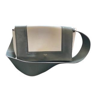 Celine Two-Tone Leather Frame Shoulder Bag