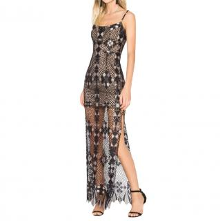 BCBG Max Azria Lace Detailed Maxi Dress