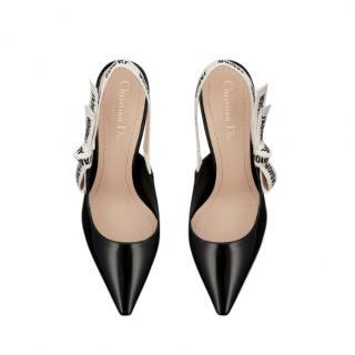 Dior Black Kitten Heel J'adior Slingback Pumps