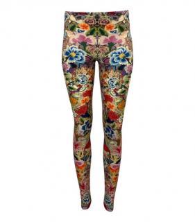Alexander McQueen Multi Coloured Floral Print Leggings