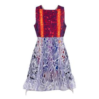 Peter Pilotto Multicoloured Lace Embroidered Dress
