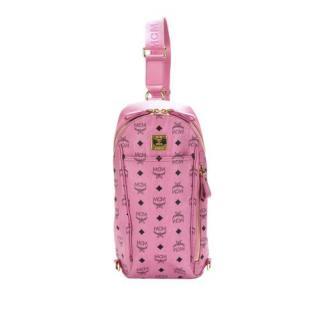 MCM Visetos Leather Pink Crossbody Bag