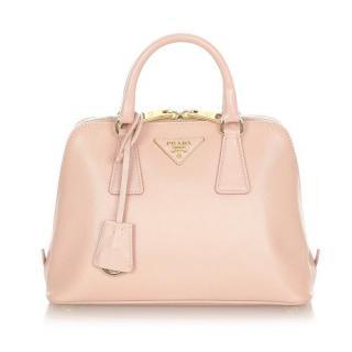 Prada Pink Saffiano Leather Promenade Satchel