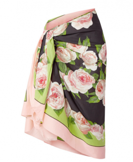 Dolce & Gabbana Floral-print Cotton-voile Pareo In Black