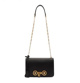Versace Medium Black Icon Tribute Flap Bag