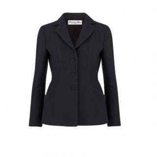 Dior Black 30 Montaigne Single Breasted Bar Jacket