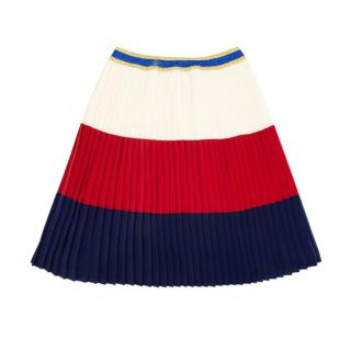 Gucci Colourblock Pleated Kids 8Y Skirt