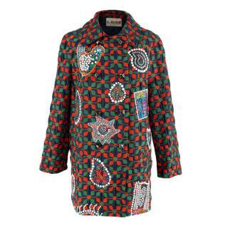 Libertine Blue, Red & Green Embellished Coat