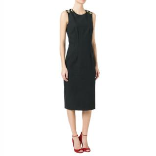 Dolce & Gabbana Marina Black Crossover Back Fitted Dress