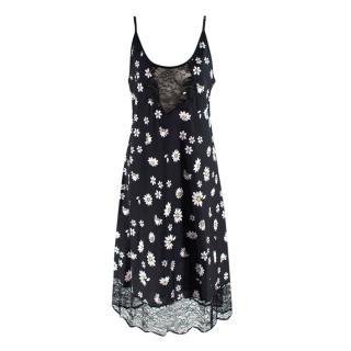 Paco Rabanne Lace Panel Daisy Print Cami Dress