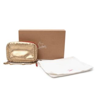 Christian Louboutin Piloutin Gold Studded Bag
