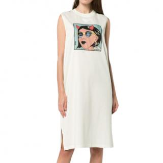 Prada Pastel Comic print jersey dress