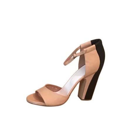 Maison Margiela Two-Tone Ankle Strap Sandals