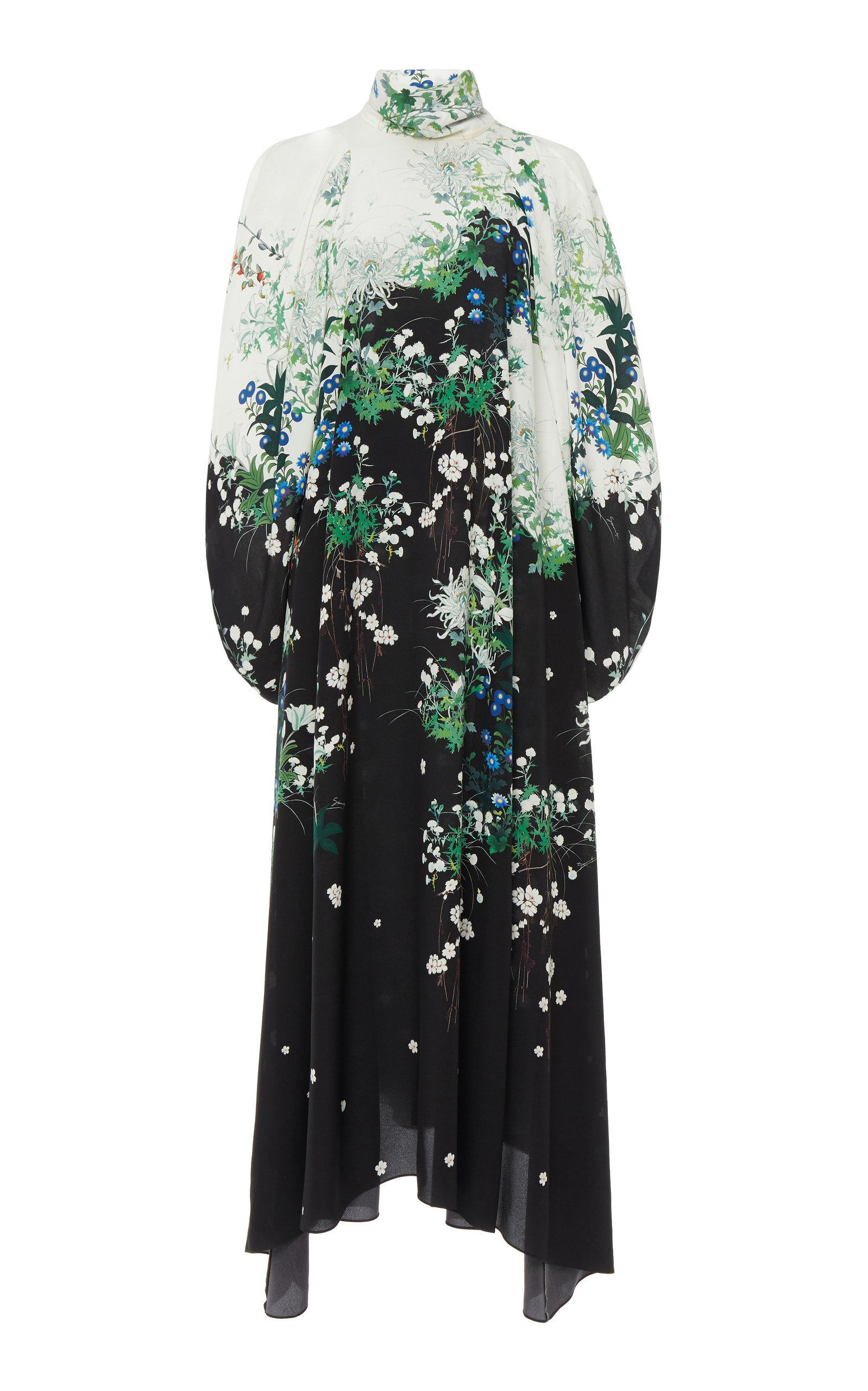 Givenchy Floral-print Silk-chiffon Midi Dress