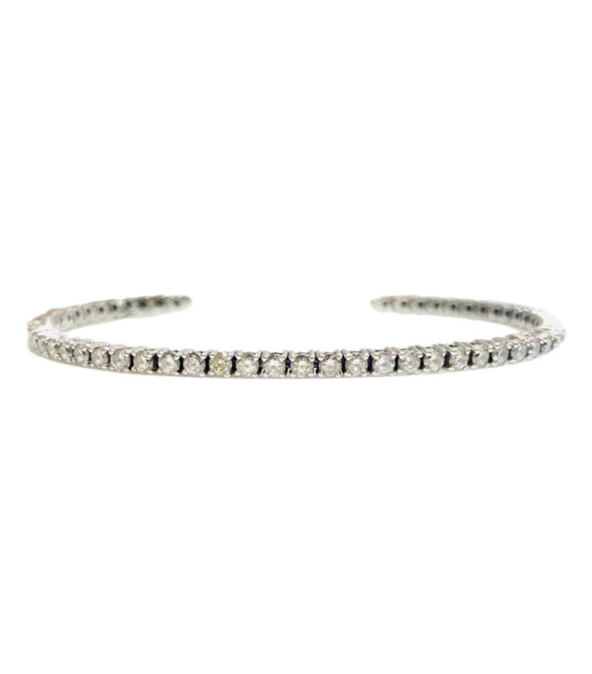 Bespoke Platinum Set Diamond Open Tennis Bracelet