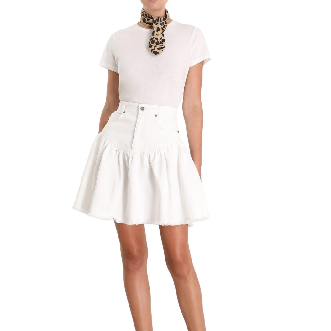 Zimmermann White Veneto Denim Mini Skirt
