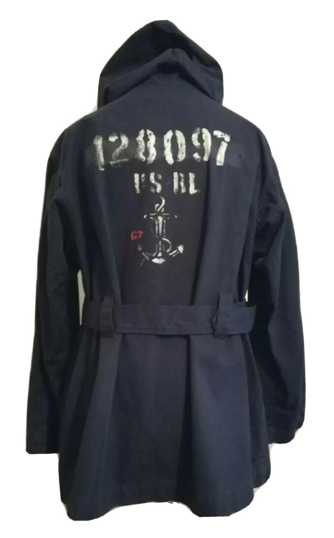 Ralph Lauren Polo hooded navy Balmacaan jacket