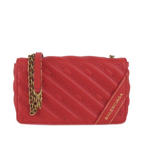 Balenciaga Red Blanket Reporter Shoulder Bag