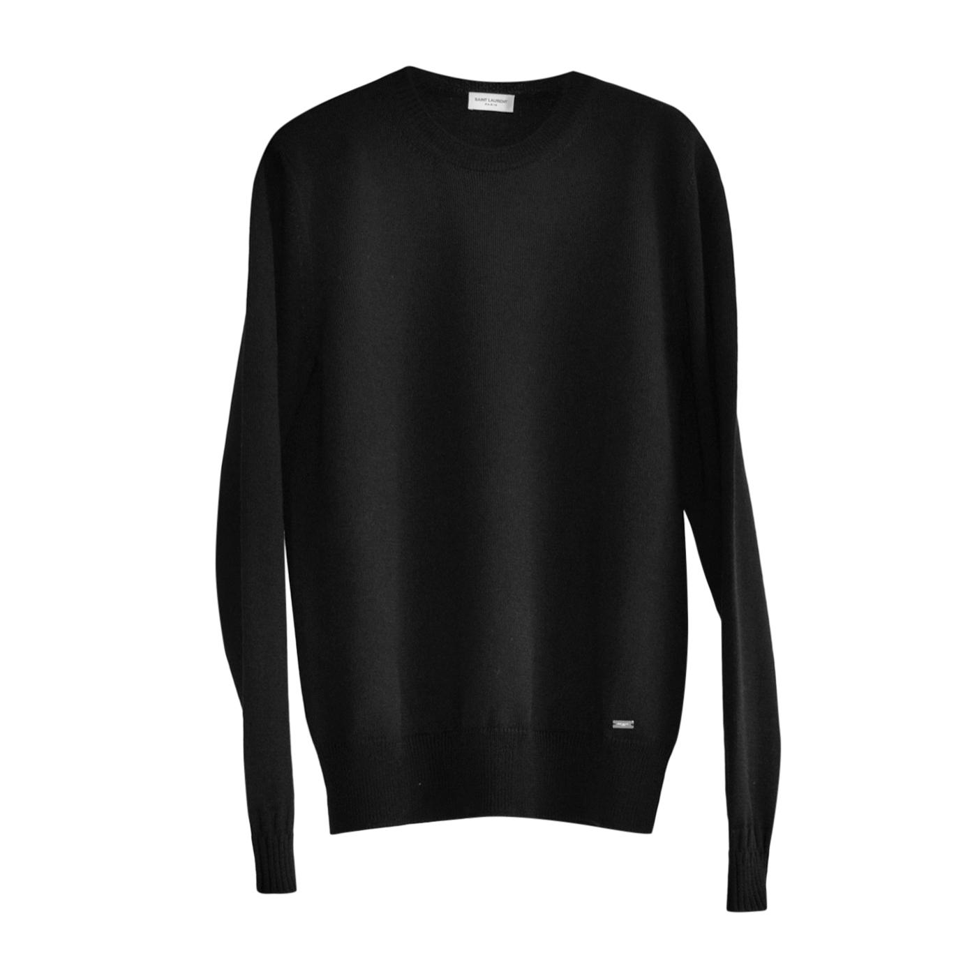 Saint Laurent Black Wool Crew Neck Jumper