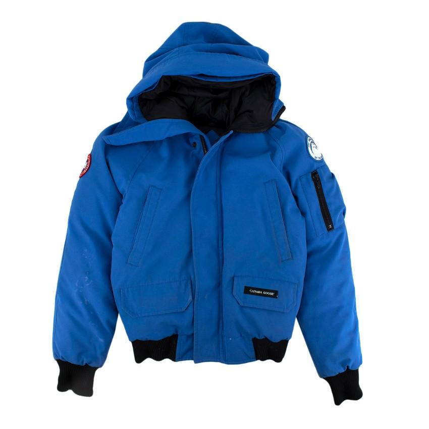 Canada Goose Boys Blue Down Padded Chilliwack Coat