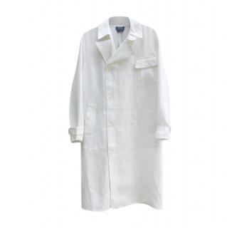Polo Ralph lauren Cream Linen Double Breasted Coat