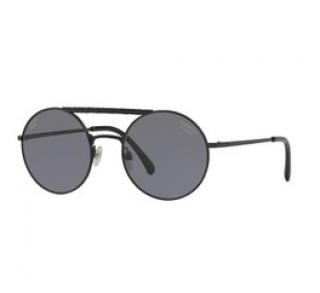 Chanel Black Round Aviator Sunglasses