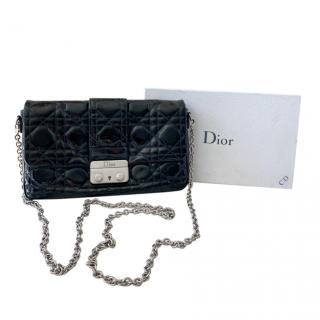 Dior Patent Cannage Leather Miss Dior Chain Clutch