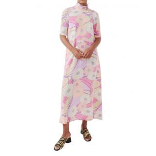 Rachel Comey Pink Psychedelic Floral Dasha Dress