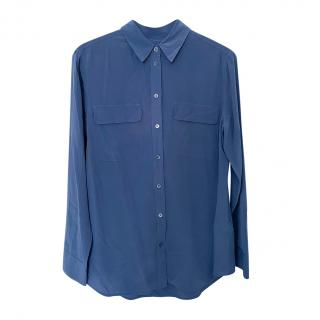 Equipment Blue Washed Silk Shirt
