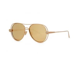 Boucheron Serpent Boh�me Aviator Gold Plated Sunglasses