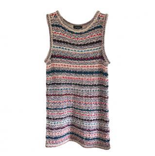 Chanel Fantasy Tweed Knit Sleeveless Dress