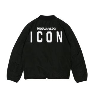 DSquared2 Kid's 14Y ICON Black Bomber Jacket