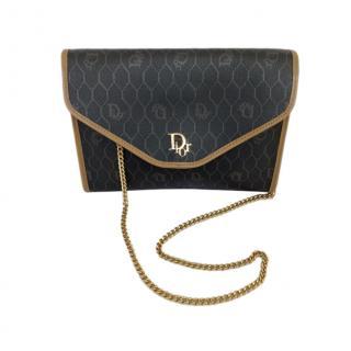 Dior Vintage Honeycomb Canvas Shoulder Bag