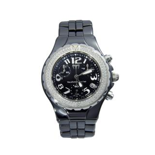 TechnoMarine Black Diamond Set 41mm DTC Watch
