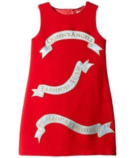 Dolce & Gabbana Red Queen's Angels Sleeveless Shift Dress.