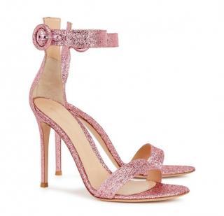 GIANVITO ROSSI Portofino  pink lam� sandals