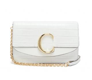Chloe Croc Embossed The C mini leather shoulder bag