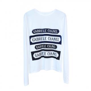 Coco Gabrielle Velvet Logo Cotton Top
