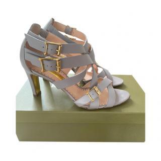 Rupert Sanderson Grey Soraya Strappy Sandals