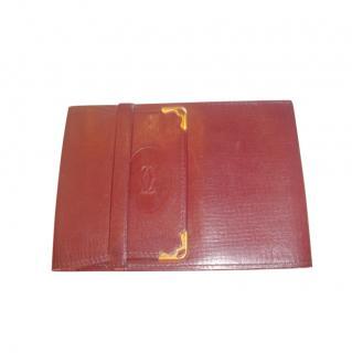 Cartier Bordeaux Leather Wallet