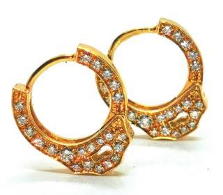 Maria Tash handcuff diamond hoop earrings