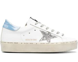 Golden Goose Hi Star Platform Glittered Sneakers
