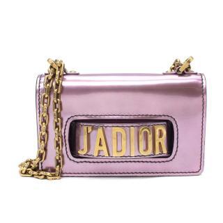 Christian Dior J'adior Metallic Pink Mirror Calfskin Flap Bag