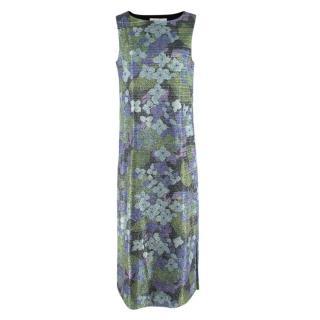 Richard Quinn lurex Floral sleeveless Shift Dress