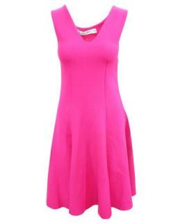 Dior Fuchsia A-Line Knit Skater Dress